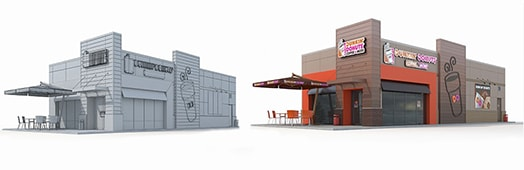 Shops 3d Modeling and Rendering in USA