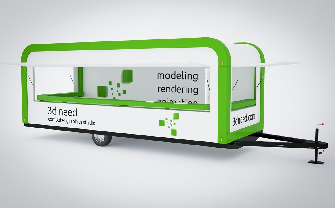 Price of Mobile Kiosk Trailer Modeling